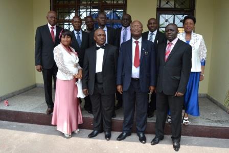 La délégation syndicale avec le Recteur